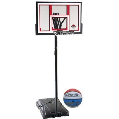 lifetime basketball goal lifetime 48 quot shatterproof portable basketball hoop system 29282