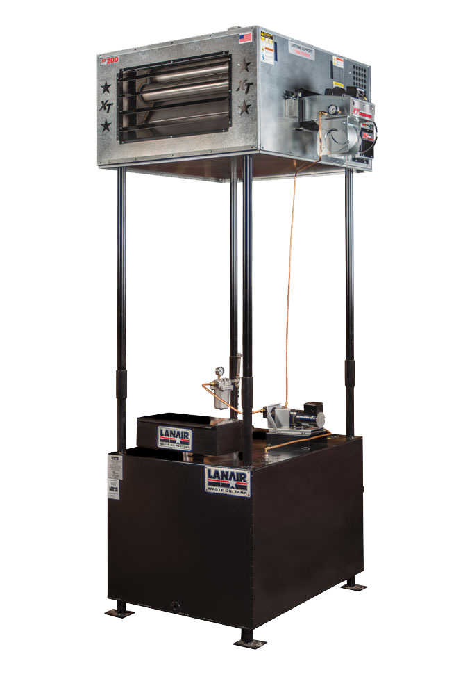 Waste Oil Heater Furnace Lanair Mx200 With Tank And