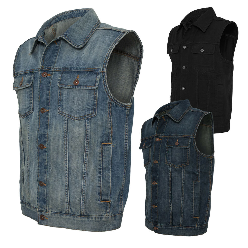 urban classics herren denim vest jeansweste jeans jacke weste jeansjacke s xxl ebay. Black Bedroom Furniture Sets. Home Design Ideas