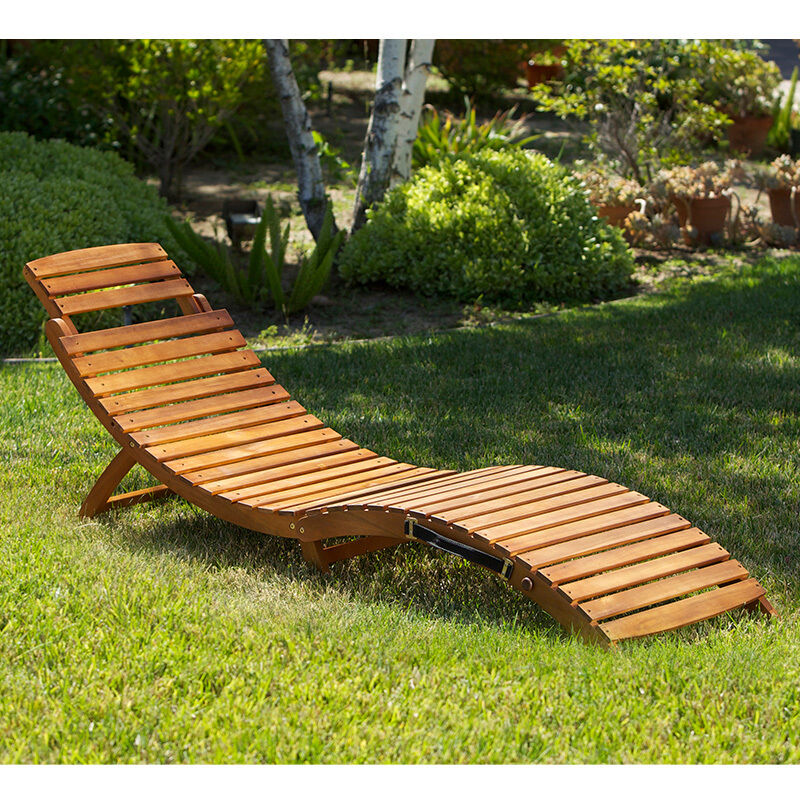 Outdoor Patio Furniture Folding & Portable Chaise Lounge Chair