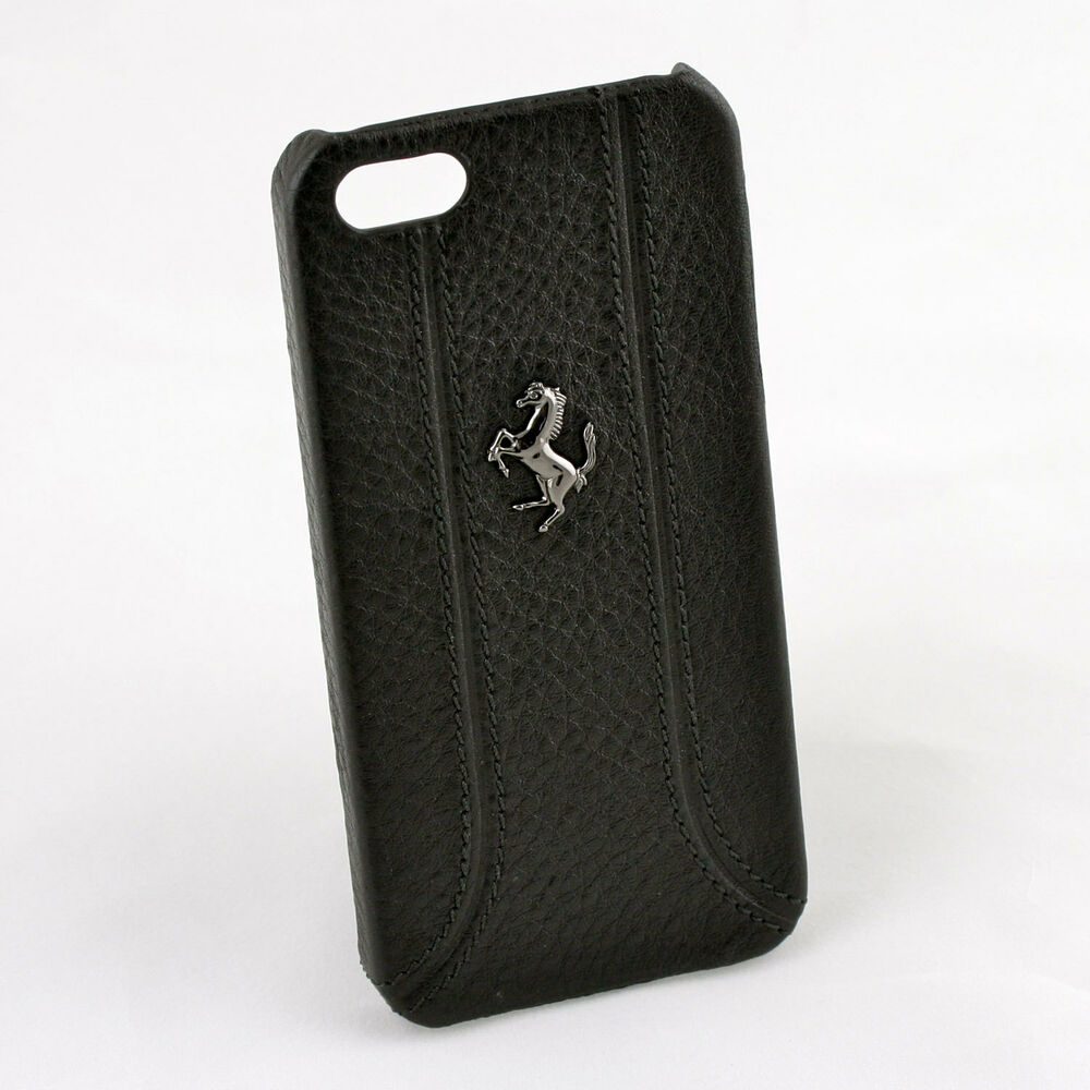 Ferrari Iphone 5 5s Black Leather Amp Stitching Case Cg
