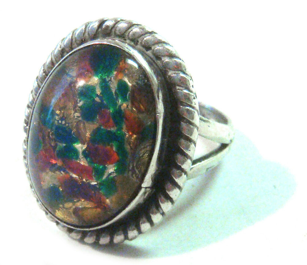 taxco mexico 925 sterling silver opal ring size 5 5