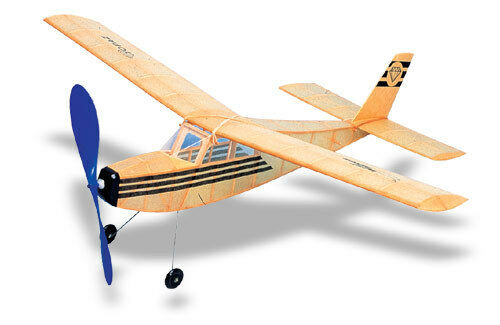 Topaz West Wings Balsa Wood Model Rubber Band Powered