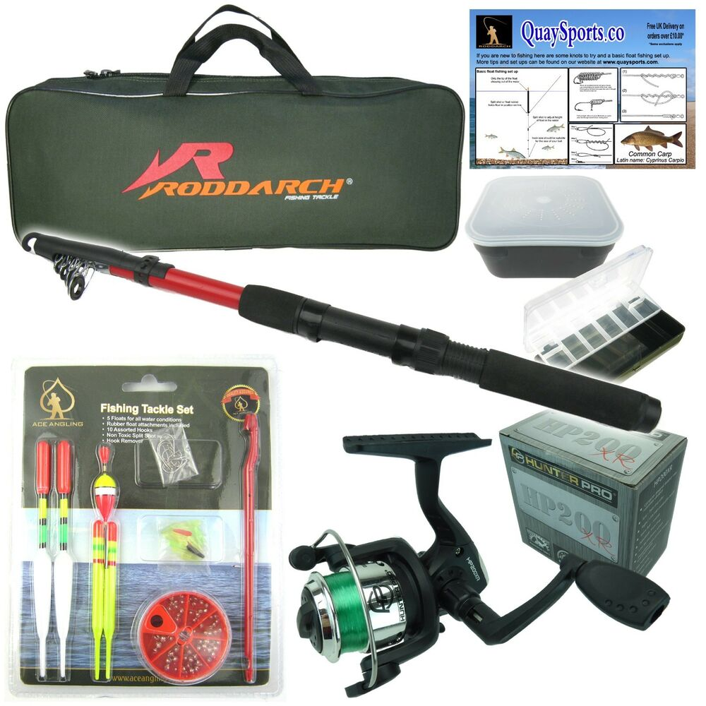 complete starter junior beginner kids fishing rod reel