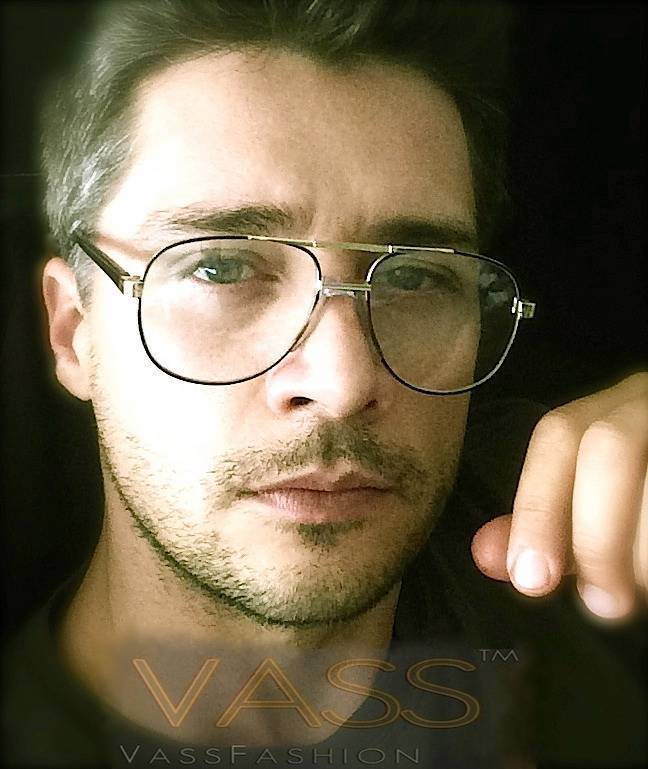 80s Vintage Retro Aviator Metal Gold Frame Clear Lenses