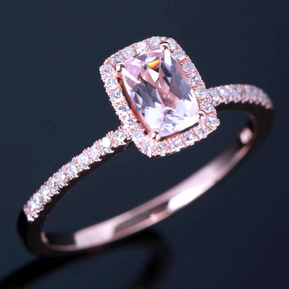 Solid Rose Gold Engagement Rings