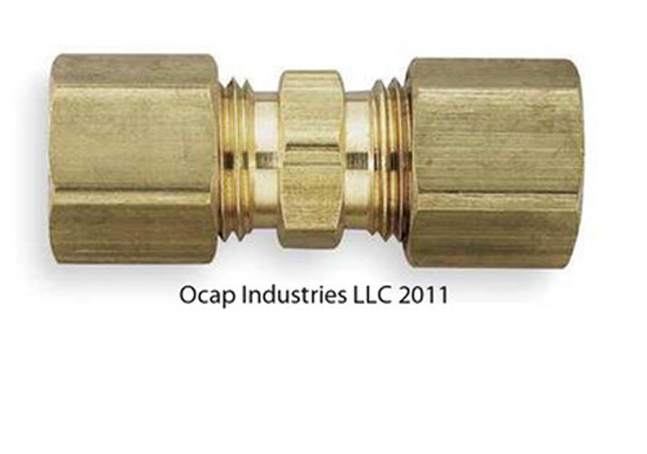 Brass brake line compression unions for quot tubing