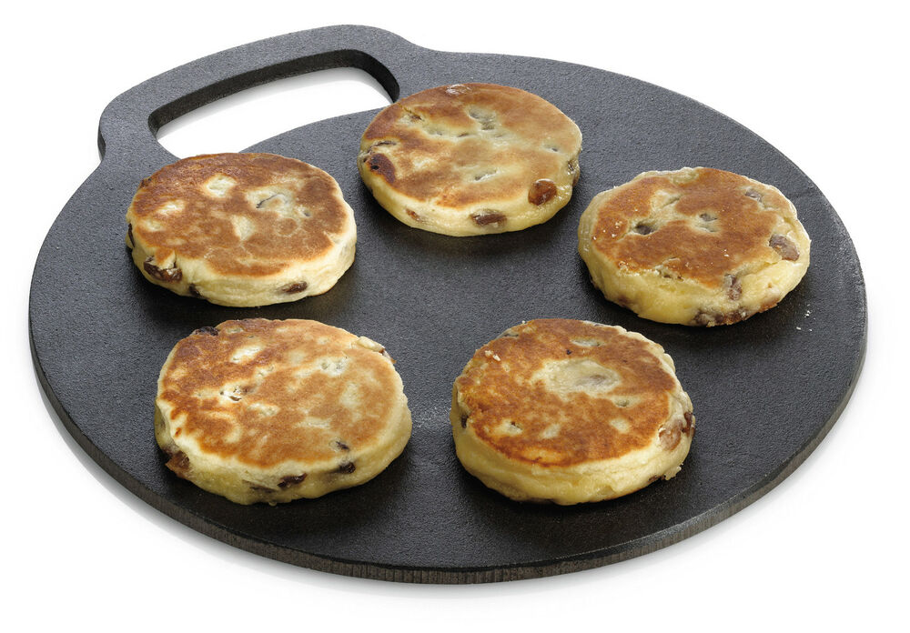 Kitchen Craft Cast Iron Scone Welsh Cakes Griddle Stone