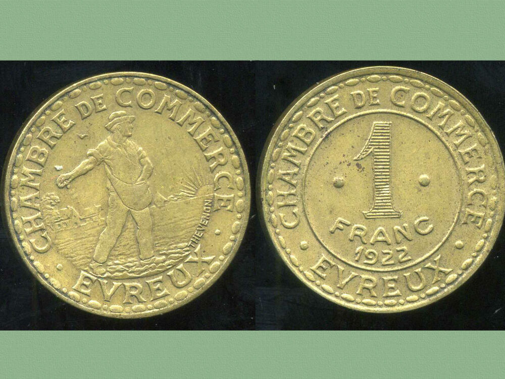 Evreux 1 franc 1922 chambre de commerce ebay for France francs