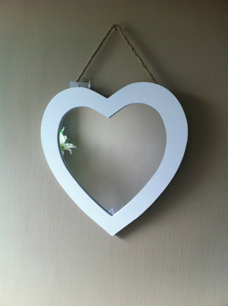 Shabby Heart Shaped Wall Hanging Mirror By Gisela Graham