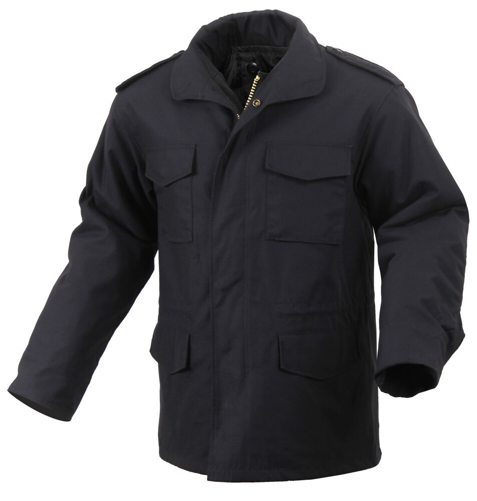 Field Jacket M 65 With Removable Liner Black Military