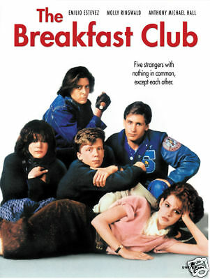 the breakfast club cult movie poster print ebay
