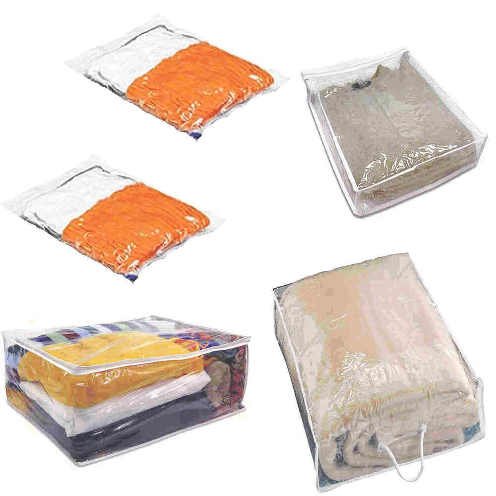 2 Moth Proof Wool Clothes Jumper Sweater Cushion Under Bed