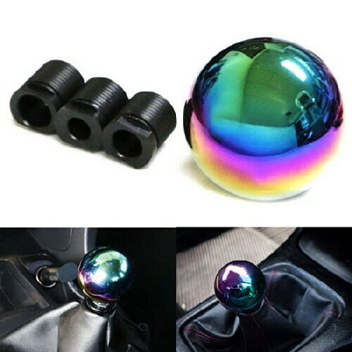 Sell Car For Parts >> JDM Neo Chrome Round Shift Knob Fit For Acura Honda Mazda Nissan Toyota, etc | eBay