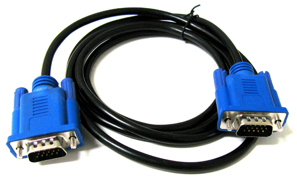 5 Ft Feet 5ft Svga Vga M M Lcd Led Monitor Blue Vga Cable
