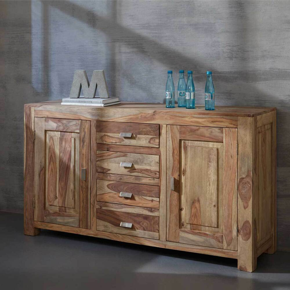 kommode yoga sheesham massivholz schrank sideboard. Black Bedroom Furniture Sets. Home Design Ideas