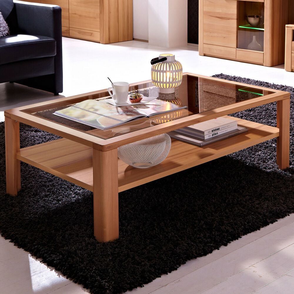 couchtisch nature plus wohnzimmer tisch 120x70 cm kernbuche massiv ebay. Black Bedroom Furniture Sets. Home Design Ideas