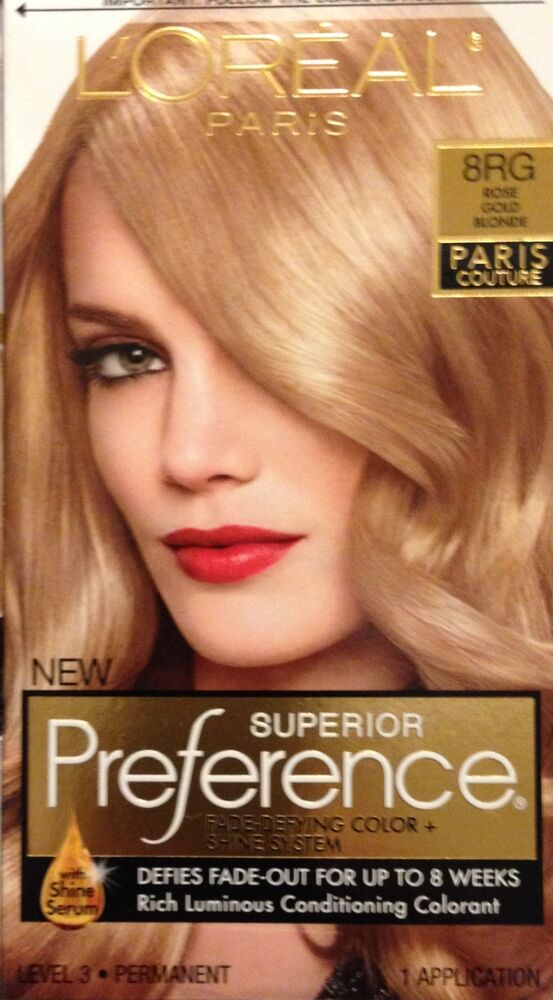 Oreal Superior Preference Paris Couture Hair Color 8RG Rose Gold ...