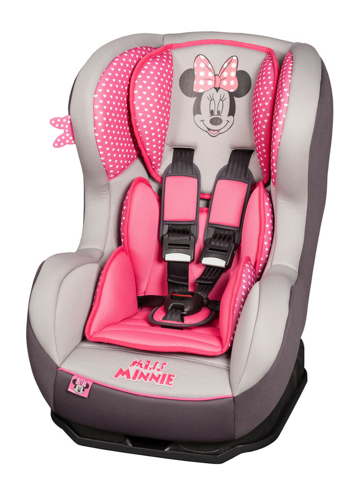 disney minnie mouse pink cosmo sp baby toddler reclining car seat 0 4 yrs ebay. Black Bedroom Furniture Sets. Home Design Ideas