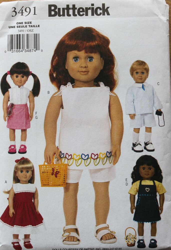 18 Quot Girl Amp Boy Doll Clothes Butterick Sewing Pattern
