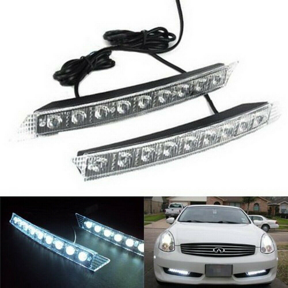 Audi A6 Q7 Style 9 Led Led Daytime Running Lights