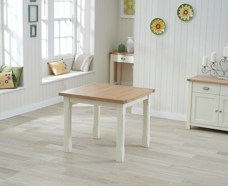 Riverside Painted Oak Furniture Flip Top Square Dining