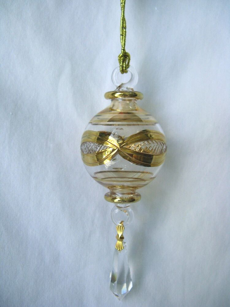 Egyptian handmade glass christmas ornaments ball u ebay