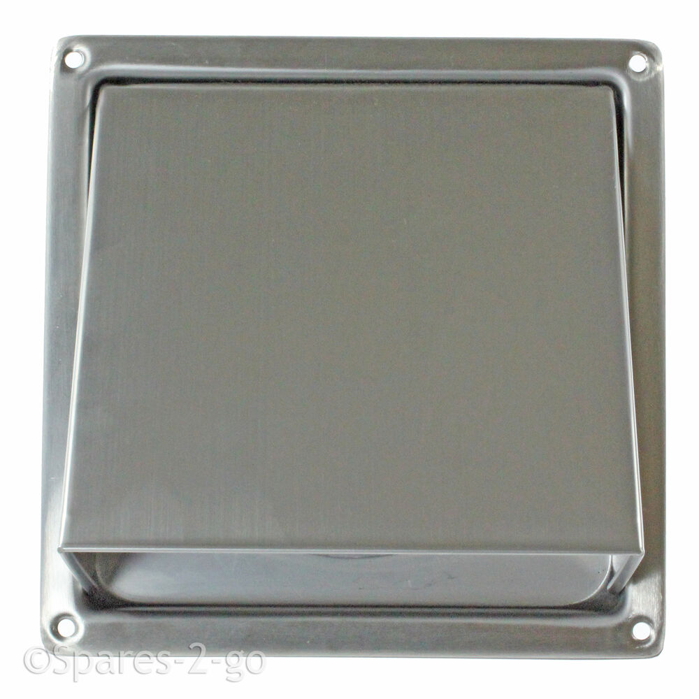 Stainless steel tumble dryer wall air vent cowled hood