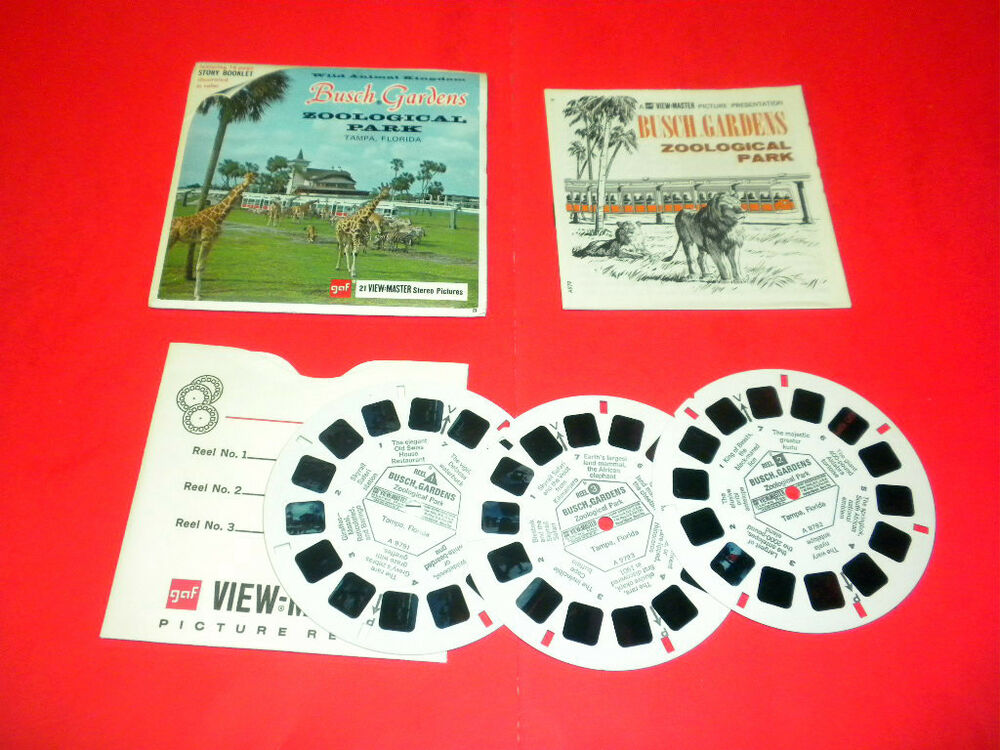 busch gardens zoological park tampa florida a979 viewmaster packet set ebay