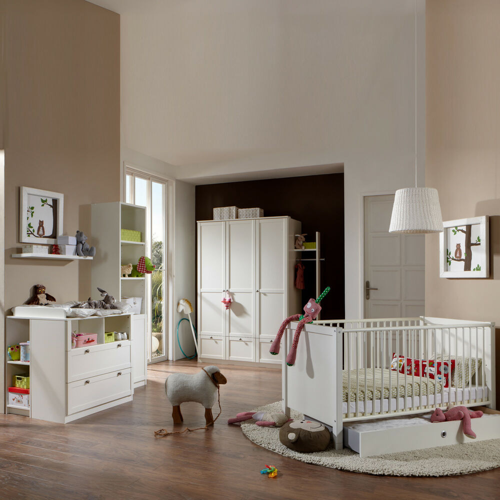babyzimmer filou 8 teilig in alpinwei bett schrank wickelkommode ebay. Black Bedroom Furniture Sets. Home Design Ideas