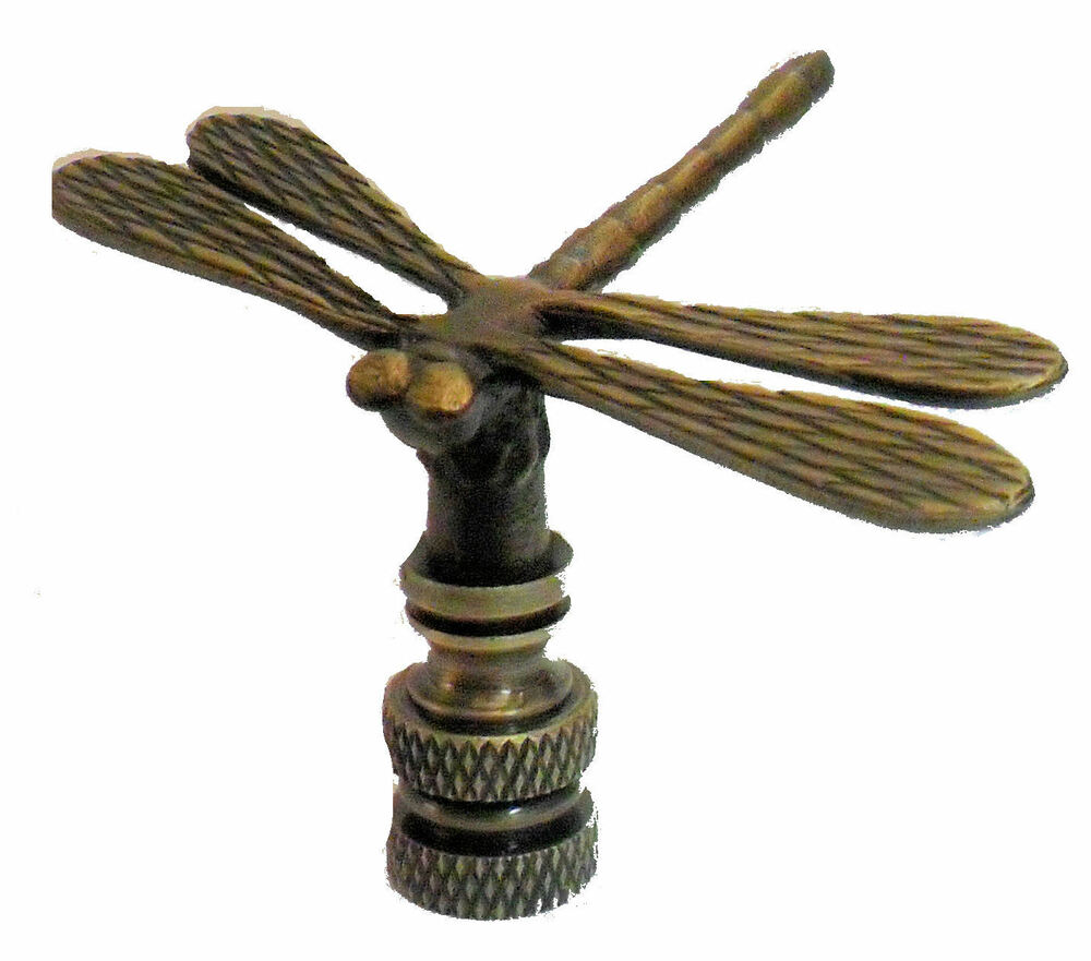 Lamp Parts Antique Brass Dragonfly Lamp Shade Finial Ebay