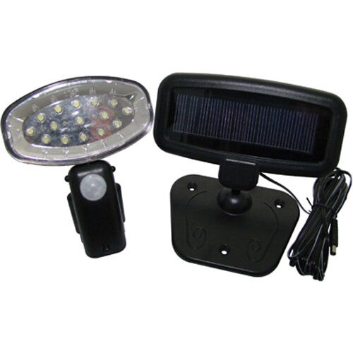 RECHARGEABLE 15 LED SOLAR POWER PIR MOTION SENSOR SECURITY