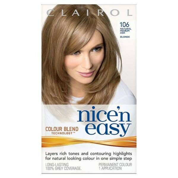 Clairol Nice N Easy Hair Color Natural Medium Ash Blonde