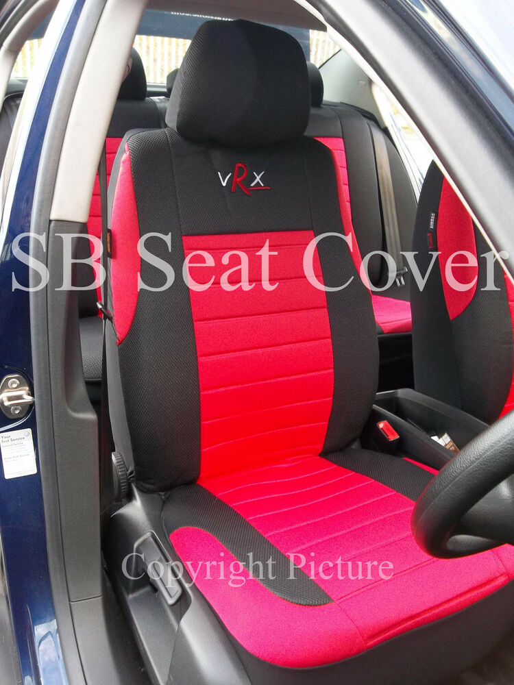 bmw 1 series 3 series car seat covers vrx red full set sbcsc203 ebay. Black Bedroom Furniture Sets. Home Design Ideas