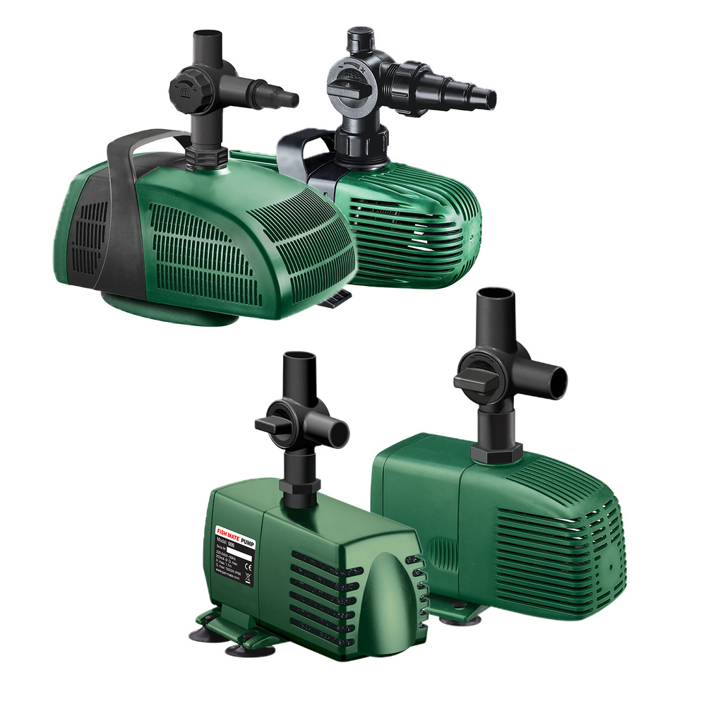 Fish mate pond filter pumps all models water fountain for Outdoor fish pond filters and pumps