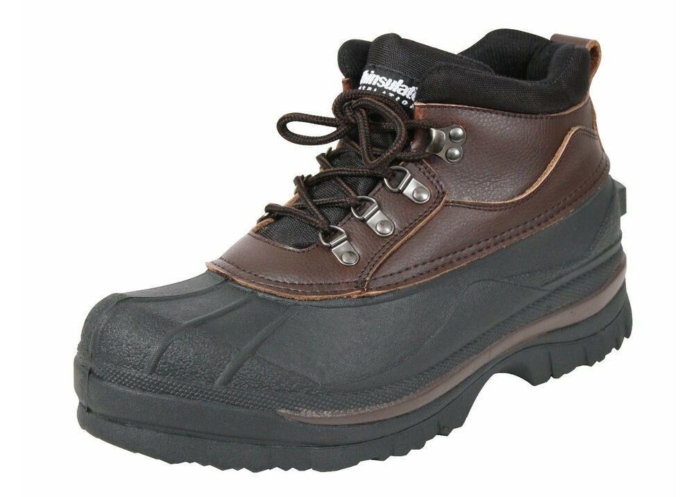 Duck Boots Waterproof Cold Weather Hiking Brown 5