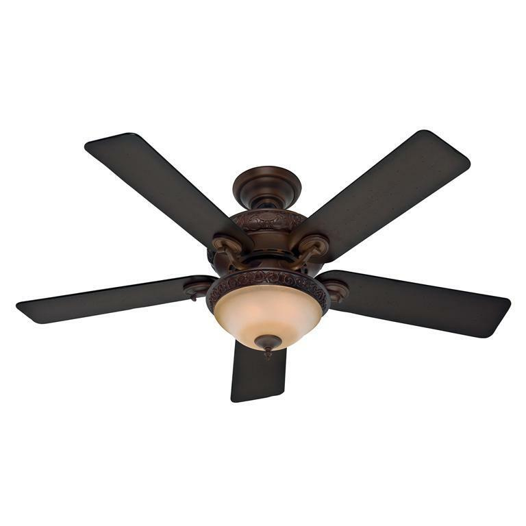 "HUNTER 52"" Vernazza ""Brushed Cocoa"" Ceiling Fan with Light"