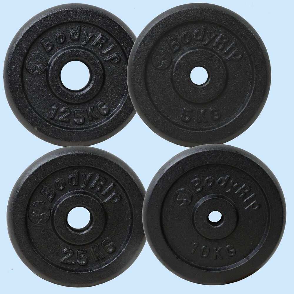 """Dumbbell Set A Vendre: Cast Iron 1"""" Hole Weight Plate Plates Discs Weights"""
