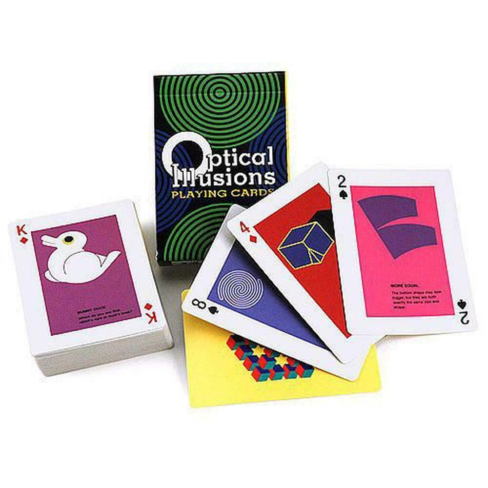 optical illusions card illusion game games cards brain gifts gift