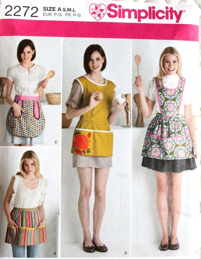 APRON Half & Full*Great Pockets! Simplicity Pattern 2272