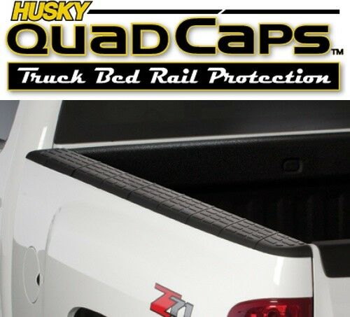 Pickup Truck Bed Liners >> Husky 97101 Quad Caps Bed Rail Protector 2007-2013 Chevy Pickup 6'5'' Bed | eBay