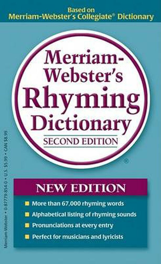 Merriam-Webster's Rhyming Dictionary by Merriam-Webster Mass Market Paperback Bo 877798540 | eBay