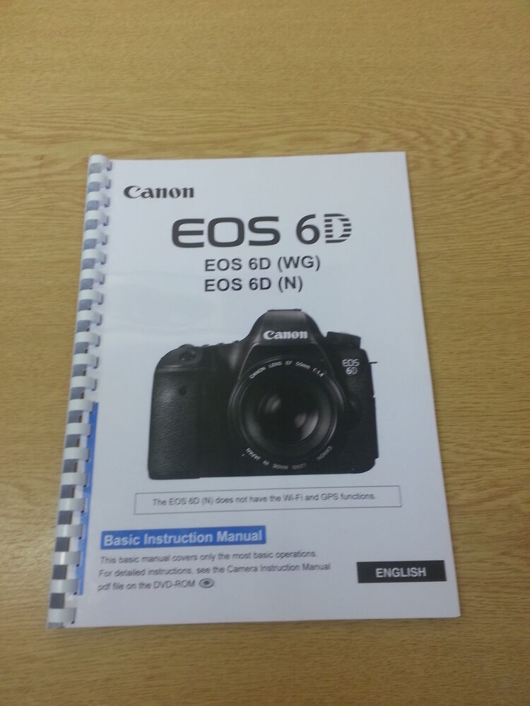 Canon Eos 6d Instruction Manual User Guide Printed 144 Pages Ebay