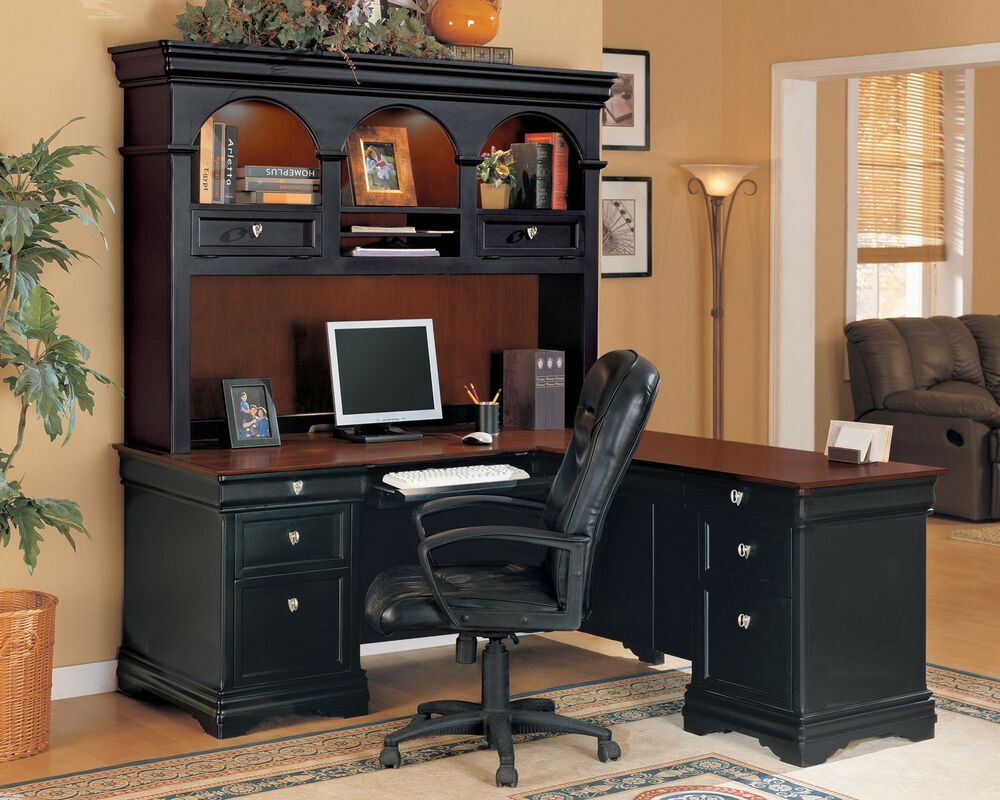 wynwood black cherry home office furniture corner computer desk hutch