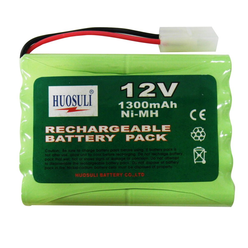 1 Pcs 12v 1300mah Ni Mh Rechargeable Battery Pack Rc