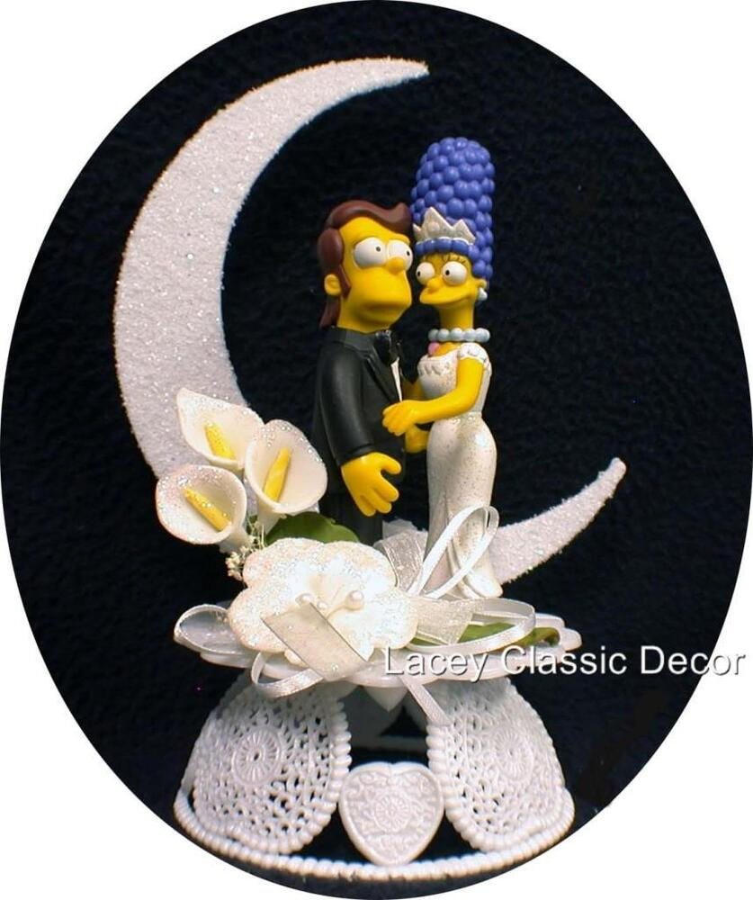 homer and marge simpson wedding cake topper wedding cake topper younger homer amp marge simpsons 15306