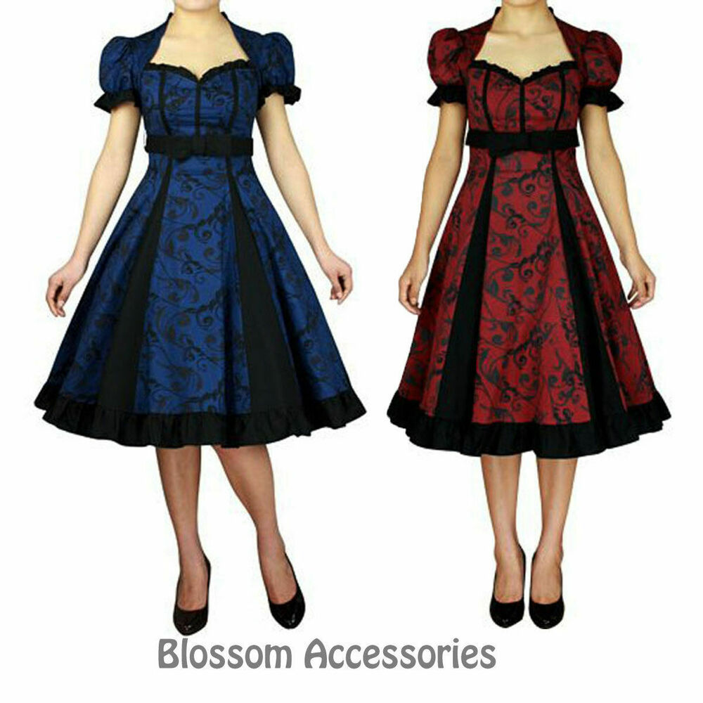 01e6197886 RK77 Rockabilly Evening Retro Bridesmaid Dress Pin Up Vintage 50s Prom Swing