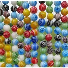 Wholesale Mixed Round MILLEFIORI Glass BEADS - Choose 4MM, 6MM & 8MM 10MM 12MM