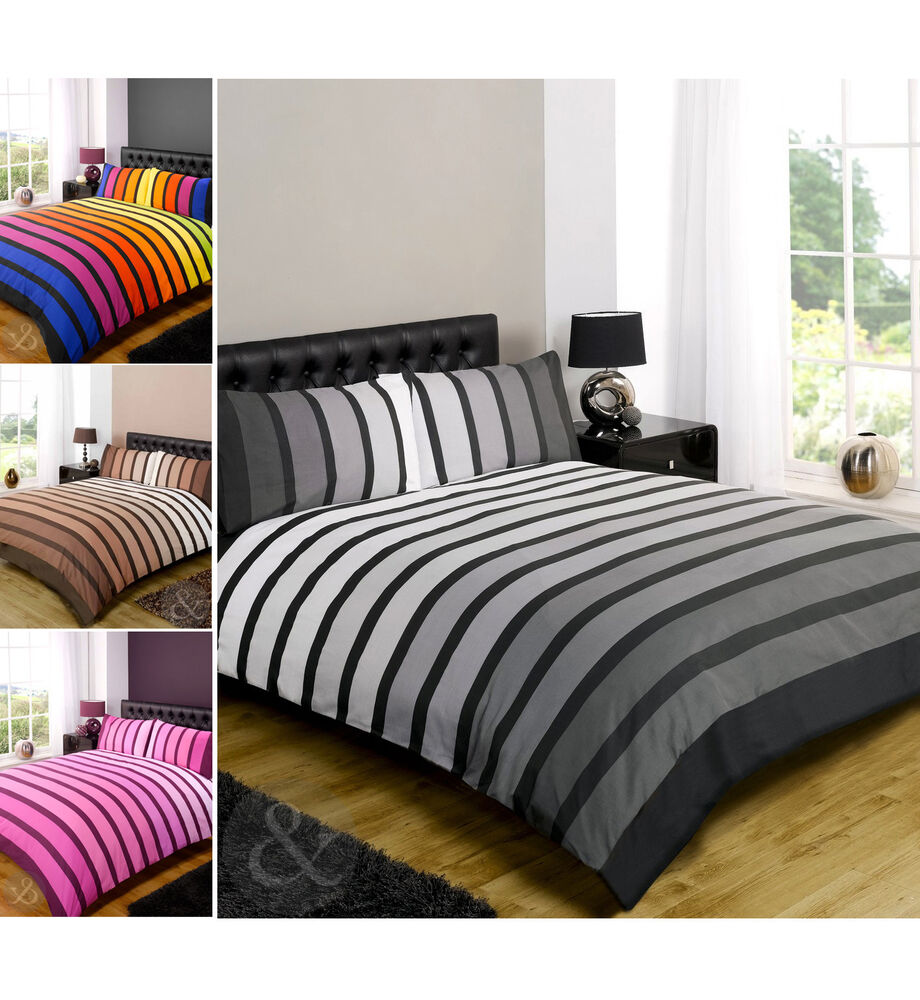 Poly cotton duvet cover modern quilt cover bedding bed set ebay