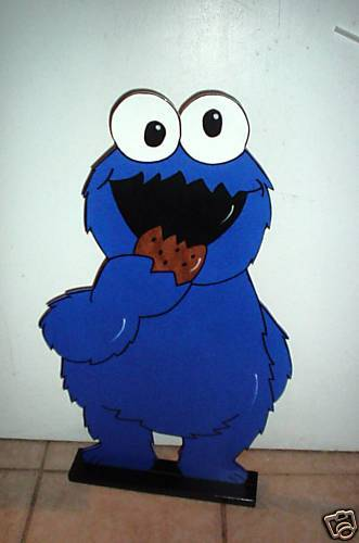 Cookie Monster Stand Up Childrens Birthday Party
